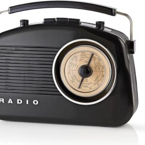 Nedis® Retro FM/AM-radio Zwart