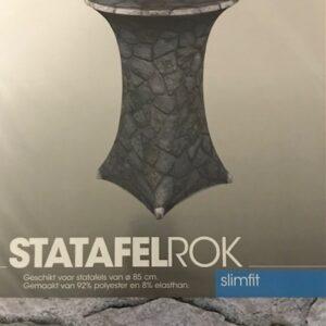 Slimline Sta-tafelrok Stenen Ø85cm